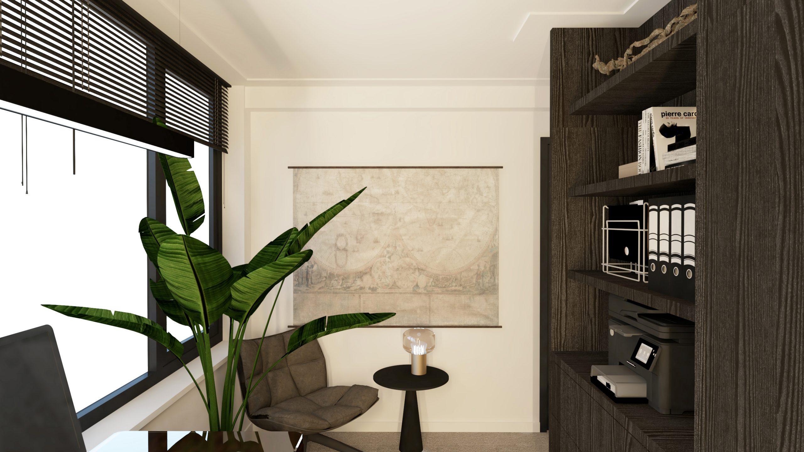 Thuiskantoor interieur ontwerp