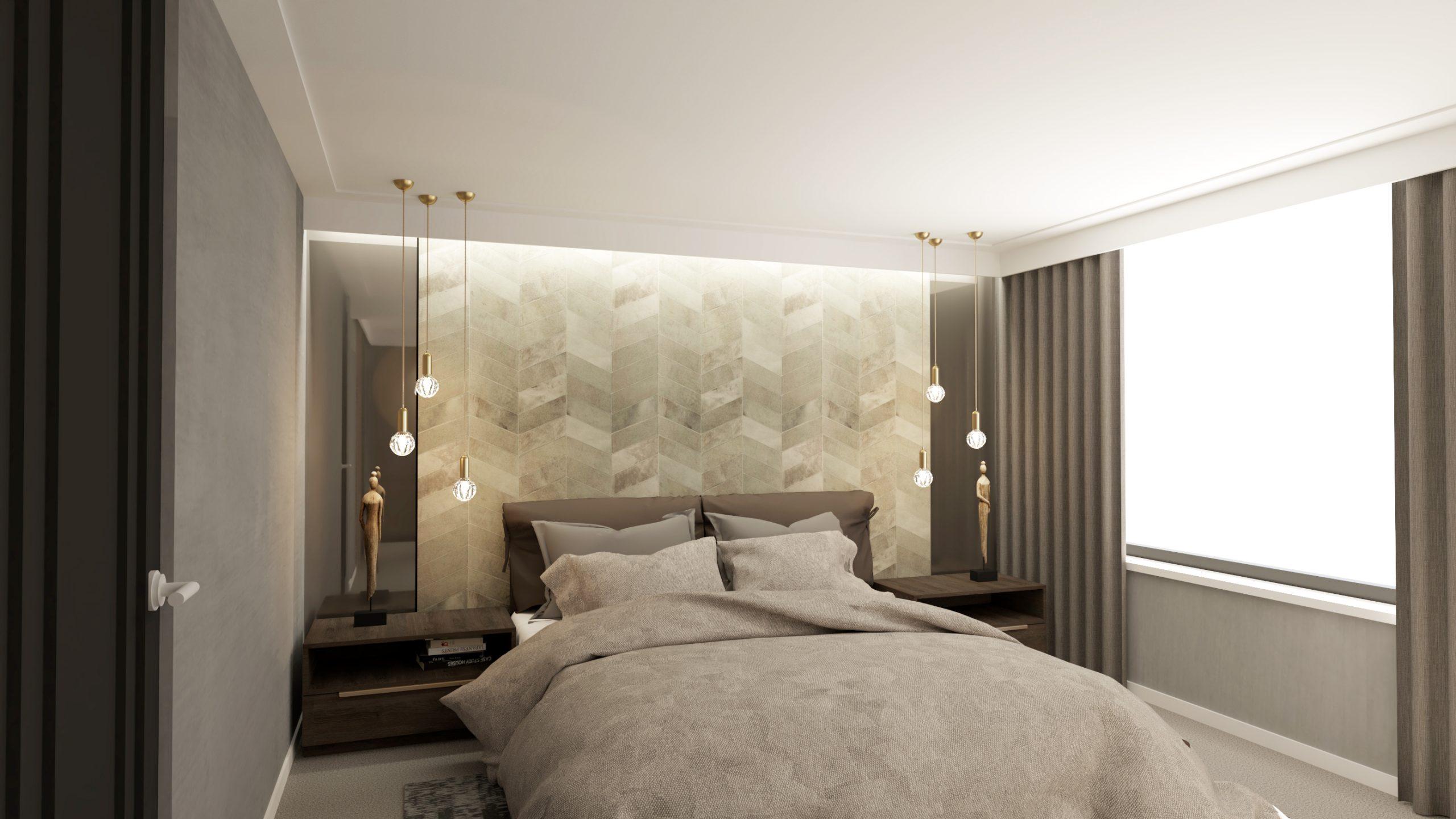 Slaapkamer leren wandbekleding