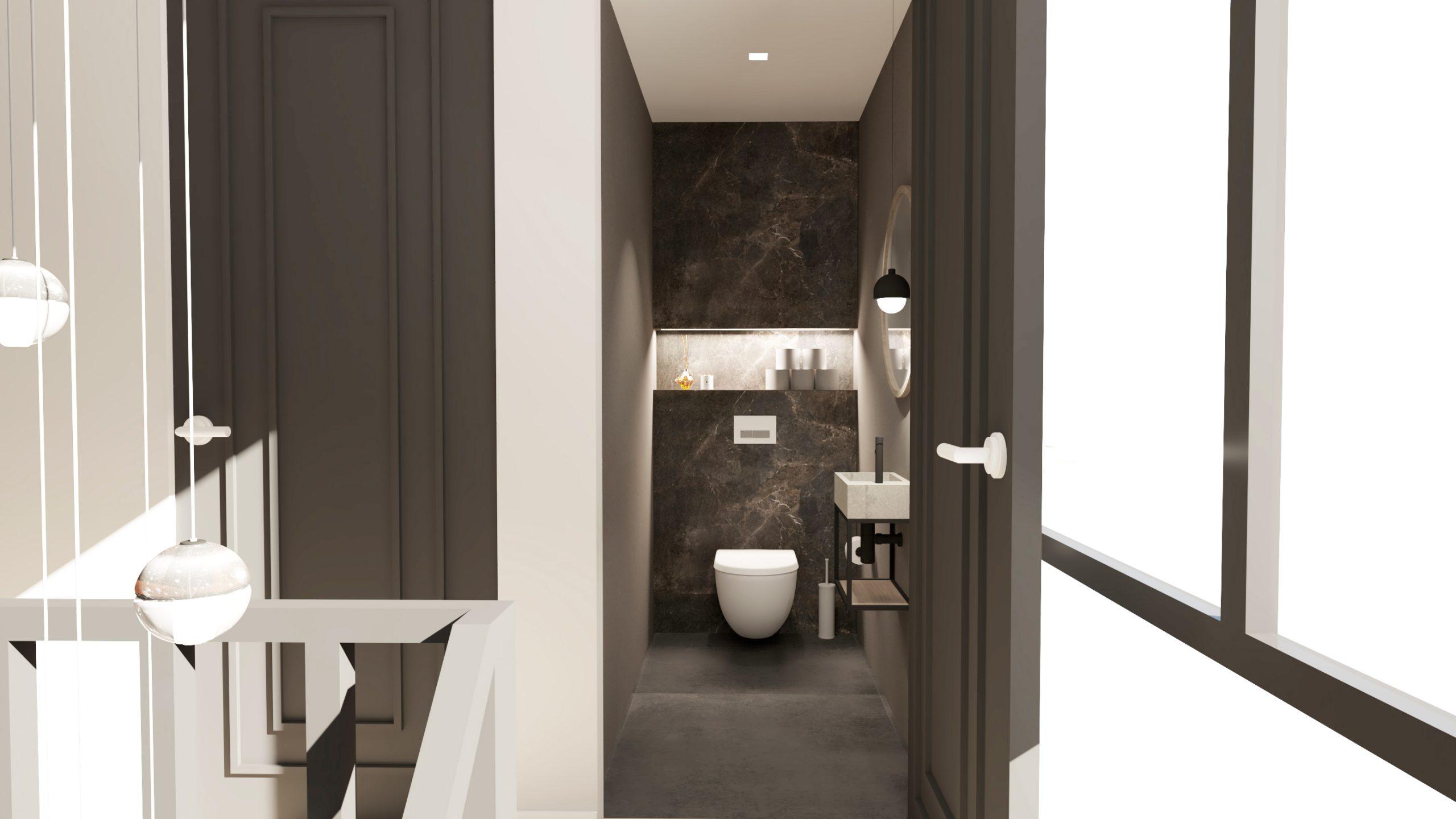 Donker toilet inspiratie